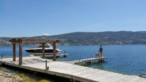 prime location for luxury waterfront home, dock on Lake Okanagan