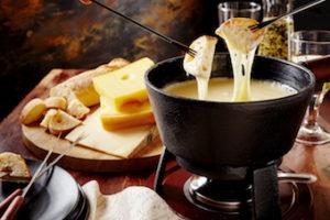 cheese fondue with wine