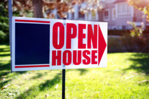 open house sign in front of Kelowna real estate