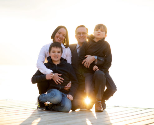 Tracey and Quincy family photo-Kelowna Real estate