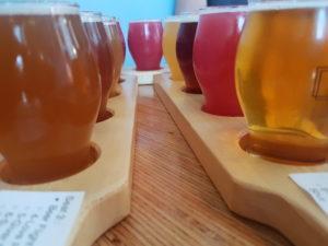 craft brewery-beer flight