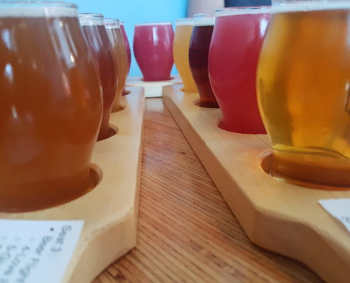 craft brewery-beer flight