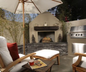 Outdoor Fireplace luxury homes