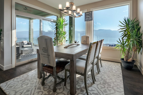 lakeview dining room Quincy Vrecko Kelowna Luxury Real Estate