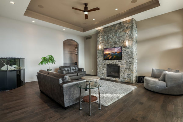 Stone Fireplace Quincy Vrecko Kelowna Luxury Real Estate