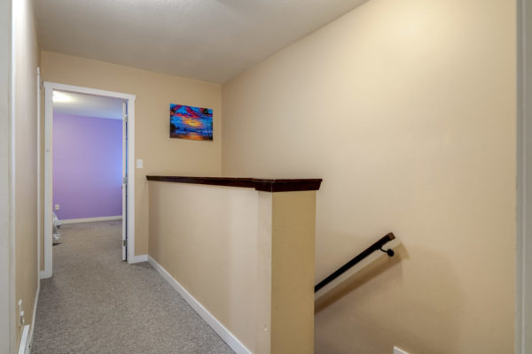 Upper staircase Townhome
