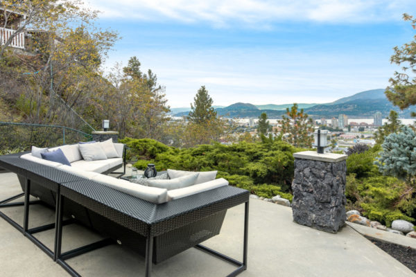 Patio with view glenmore home