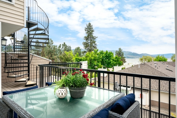 Patio with view Okanagan Real Estate