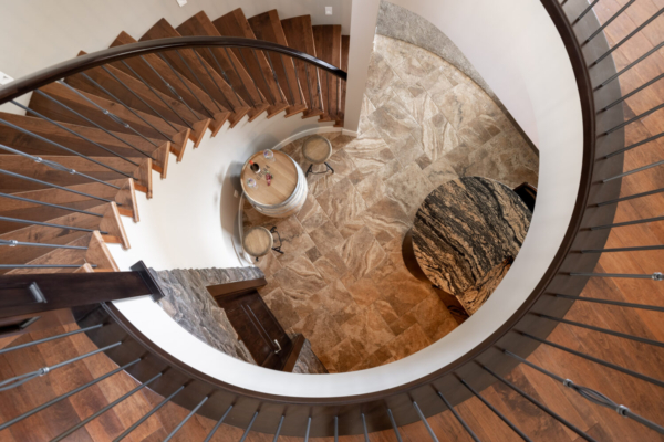 1477 Pinot Noir Drive - grand spiral staircase - Quincy Vrecko